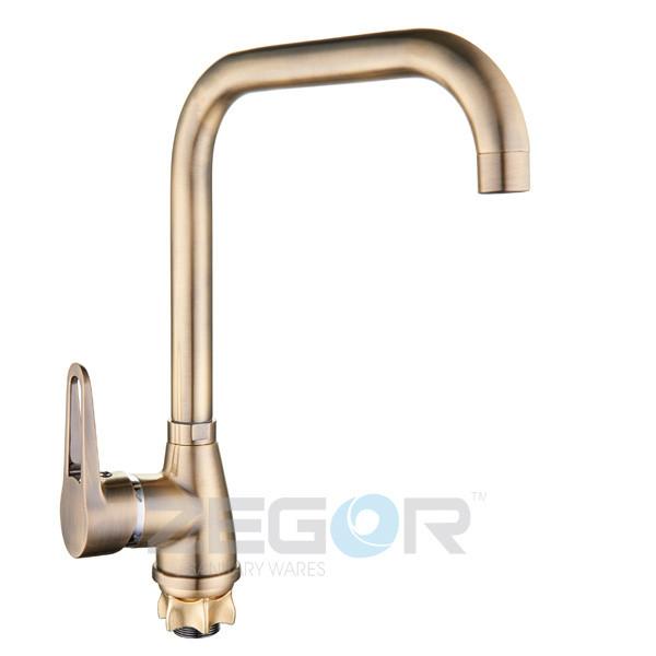Смеситель для кухни Zegor SOP7-A146-T (бронза)
