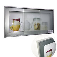 Фасад под стекло c алюминиевым профилем F 1, фото 1