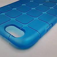 Силиконовый текстурный чехол для iPhone 6/6s (голубой)