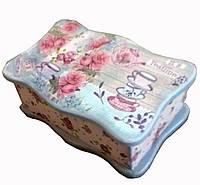 Шкатулка для чайных пакетиков. деревянная (ольха)