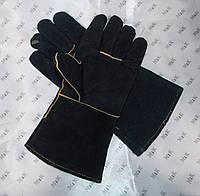 Перчатки спилковые (краги) с дефектом