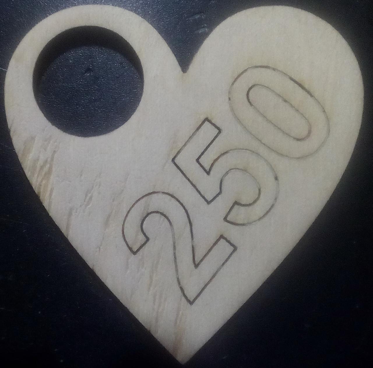 """Номерки для гардероба деревянные """"Сердце"""""""