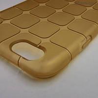 Силиконовый текстурный чехол для iPhone 6/6s (жёлтый)