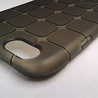 Силиконовый текстурный чехол для iPhone 6/6s (коричневый)