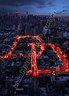 Картина 40х60 см Сорвиголова Город в огнях