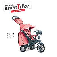 Велосипед  3-х колесный с ручкой и корзиной  Smart Trike Explorer 5 в 1  розовый