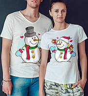 """Парные футболки """"Снеговики"""""""