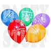 "Воздушный шар пастель ассорти Вітаємо 12"" (30 см), 100 шт"