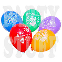 """Воздушный шар пастель ассорти Вітаємо 12"""" (30 см), 100 шт, фото 1"""