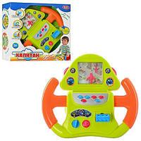 Детский автотренажер руль Play Smart 7390 «Штурвал самолета», световые и звуковые эффекты, батарейки