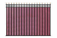 Забор из профнастилом, с прутами жесткости