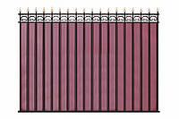 Секция забора из профнастила, с прутами жесткости, код: А-0102