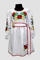 Вишите плаття для дівчинки Veronika Подолянка Тамара маки білий