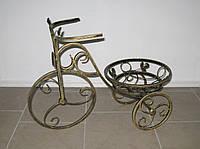 Кованая подставка для цветов Велосипед 1 малый черный