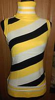 Женская вязанная жилетка. Ириска