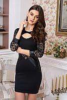 Стильное женское  черное платье Сиенна 44-48 размеры