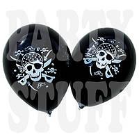 """Воздушные шарики Gemar черные Пираты 12"""" (30 см), 100 шт, фото 1"""