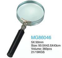 Увеличительное стекло GLASS 5х50 мм ручка полуметалл