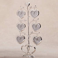 "Рамки для фото в виде дерева ""Сердца"" 27 см подарок любимой"