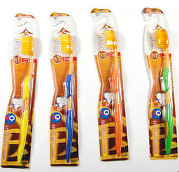 Зубні щеткки з бамбуковим вугільним напиленням - 1шт Корея!