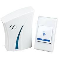 Бюджетный беспроводной звонок на дверь в квартиру 9610 AC, звонок/кнопка/23А батарейка, пластик