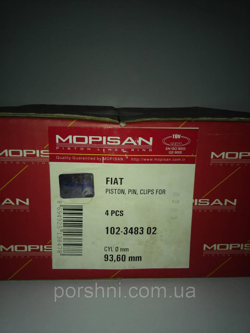 Поршни  Фиат  2.5 д.  ( 3 х 2 х 3 )   диам  93.4 Mopisan 348301