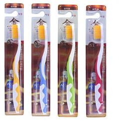 Зубні щеткки з бамбуковим вугільним напиленням Супер! - 1шт Корея