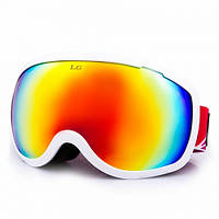 Маска (очки) горнолыжные LEGEND LG0193-W
