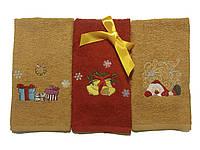 Набор из 3 махровых полотенец с вышивкой