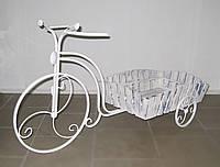 Кованая подставка для цветов Велосипед Кантри большой