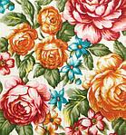 """Платок шерстяной с просновками и шелковой бахромой """"Весеннее цветение"""", фото 5"""