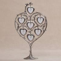 """Красивая фоторамка - дерево """"7 сердец"""" 31 см романтический подарок на годовщину"""