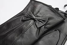 Женские кожаные перчатки из козы СРЕДНИЕ, фото 3