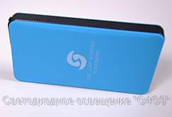 Внешний зарядный блок голубой Power Bank 8000mAm