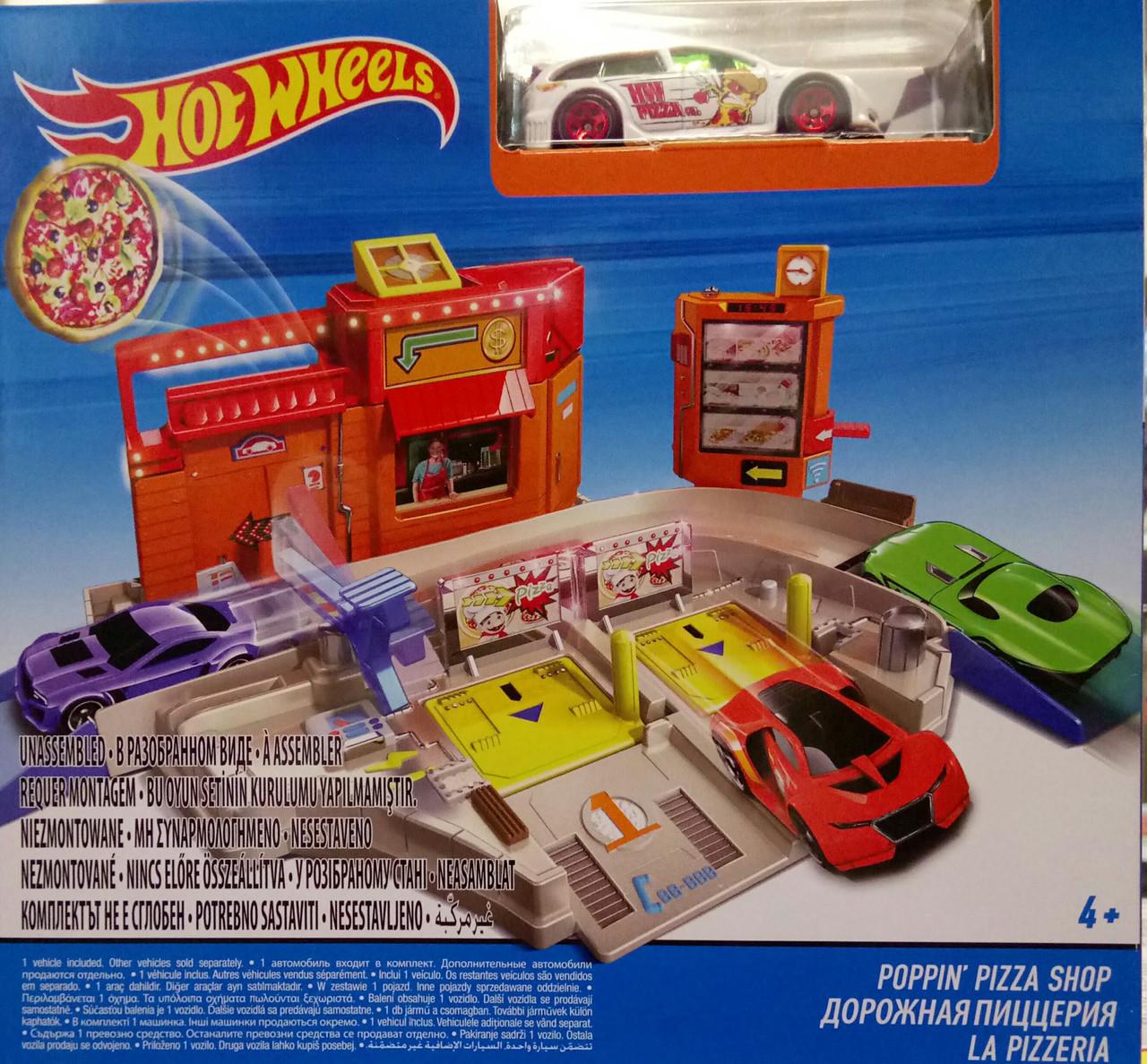 """Детский игровой автомобильный набор Ігровий набір """"Дорожня Піцерія""""  Hot Wheels"""