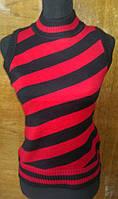 Женская вязанная жилетка. Монита