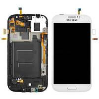 Дисплей (экраны) для Samsung Galaxy Grand Duos I9082 + с сенсором (тачскрином) и рамкой White