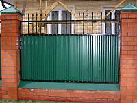 Готовый забор из профнастила