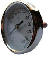 Термометр для самогонного аппарата 60 мм: 0-120°C, четкие деления, белый циферблат