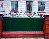 Забор из профнастилом - Секция, код: А-0114