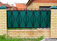 Забор из профнастилом - Секция