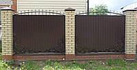 Забор из профнастилом