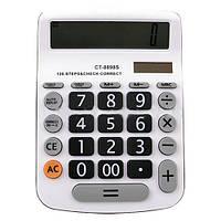 Калькулятор CT-8898S: 12-разрядный экран, питание 1хАА, солнечная батарея, 185х135х30 мм