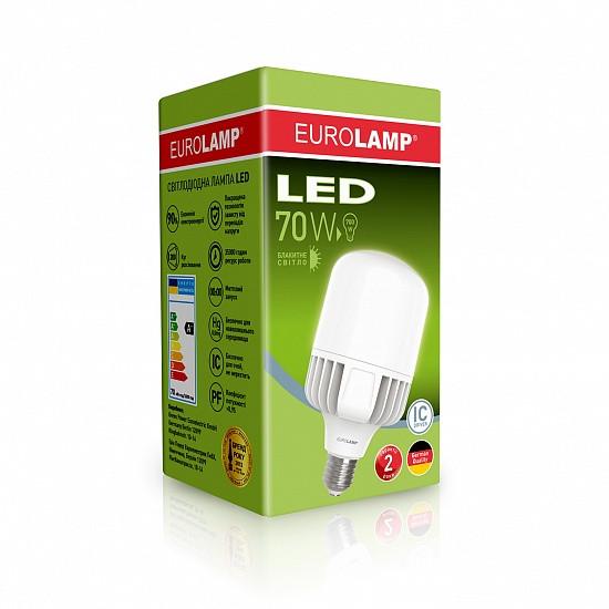 LED Лампа высокомощная 70W E40 6500K, EUROLAMP