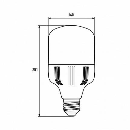 LED Лампа высокомощная 70W E40 6500K, EUROLAMP, фото 2