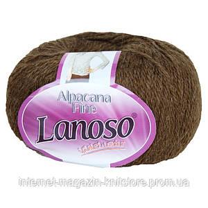 Пряжа Lanoso Alpacana Fine Коричневый