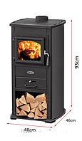 Камин Печь буржуйка чугунная Zar 8 кВт чорный S