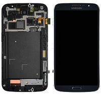 Дисплей (экраны) для Samsung i9200 Galaxy Mega 6.3, i9205 Galaxy с сенсором (тачскрином) и рамкой синий