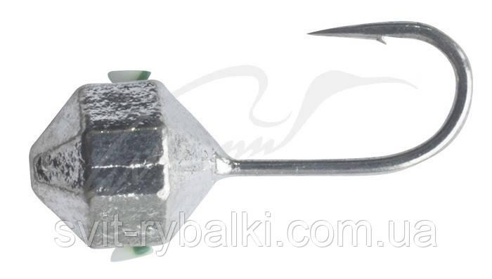 Мормышка вольфрамовая Shark Крупнограненная дробинка 0,5г диам. 4,0 мм крючок D16 гальваника ц:серебро