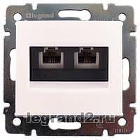 Legrand Valena Белый Розетка телефонная двойная (2 X RJ11) без рамки